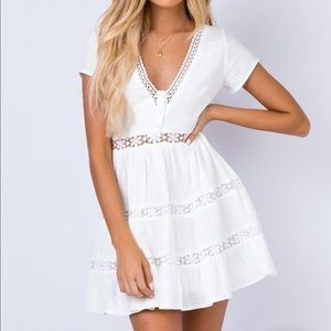 NWT white linen dress!!